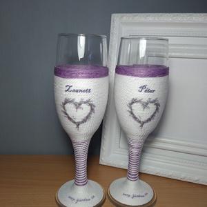 Levendulás pezsgős pohár  (gervera) - Meska.hu
