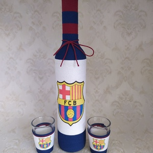 Pálinkás üveg focirajongóknak, Barcelona (gervera) - Meska.hu