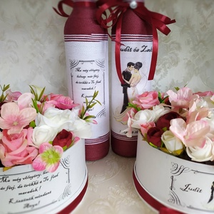 Köszönő ajándék esküvőre, garnitúra (gervera) - Meska.hu