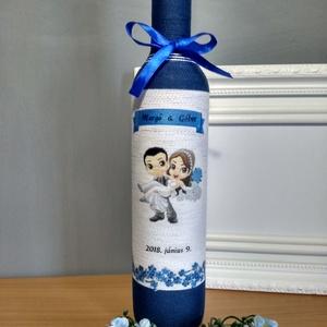 Szülőköszöntő pálinkás üveg (gervera) - Meska.hu