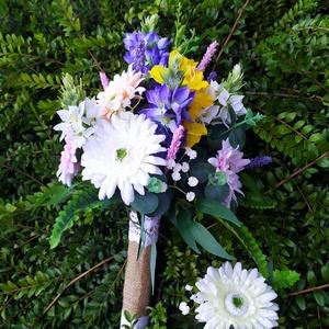 Mezei virágok menyasszonyi csokor (gervera) - Meska.hu