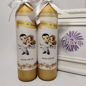 Arany-barack szülőköszöntő pálinkés üveg, Szülőköszöntő ajándék, Emlék & Ajándék, Esküvő, Virágkötés, \nEgyedi személyre szóló szülőköszöntő ajándék édesapáknak.\nAz általad választott képpel, idézettel v..., Meska