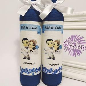 Szülőköszöntő pálinkás üveg, Szülőköszöntő ajándék, Emlék & Ajándék, Esküvő, Decoupage, transzfer és szalvétatechnika, Egyedi személyre szóló szülőköszöntő ajándék édesapáknak. \nAz általad választott képpel, idézettel v..., Meska