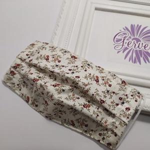 Textil maszk, kétrétegű, virág mintás (gervera) - Meska.hu