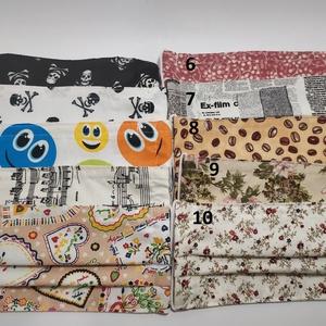 3db textil maszk választható mintával, Maszk, Arcmaszk, Varrás, A képen látható maszkokból Te állíthatod össze a csomag tartalmát. Vásárláskor írd meg a választott ..., Meska
