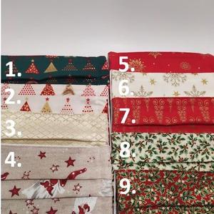 5db karácsonyi textil maszk választható mintával , Ruha & Divat, Maszk, Arcmaszk, A képen látható maszkokból Te állíthatod össze a csomag tartalmát. Vásárláskor írd meg a választott ..., Meska