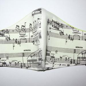 Music is my life, Egyéb, Varrás, Maszk zenészeknek, zenekedvelőknek - kottamotívumokkal. Kétrétegű. S, M, L méretekben kapható. Mosh..., Meska