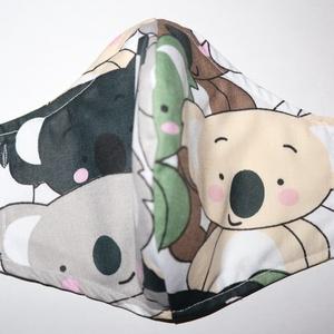 Koala maszk, Egyéb, Varrás, Maszk koala mintákkal. S, M és L méretekben kérhető. 40 fokon mosható, 150 fokon vasalható, kérhető..., Meska
