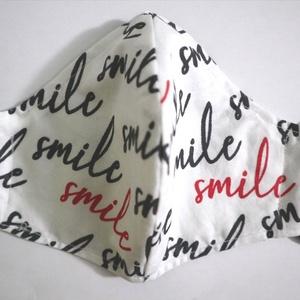 Smile maszk, Egyéb, Varrás, 3 rétegű maszk S, M és L méretekben. 40 fokon mosható, 150 fokon vasalható, filterezhető. , Meska