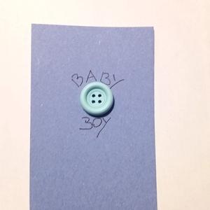 """gombos kártya_4, Otthon & lakás, Naptár, képeslap, album, Ajándékkísérő, Papírművészet, 70x105 mm-es kartonpapír kártya \""""Baby Boy\"""" felirattal. Ajándék kísérőnek fiú baba születésére. Hozzá..., Meska"""