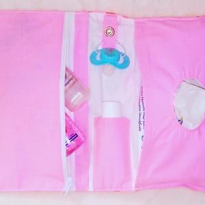 Baba-mama csomag rózsás (pelenkázó ridikül, pelenkázó neszesszer, neszesszer, egészségügyi kis könyvborító) (Gigush) - Meska.hu