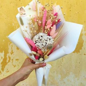 Szárazvirág csokor/Örökcsokor - Ginappi_SZVCS_02, Csokor & Virágdísz, Dekoráció, Otthon & Lakás, Virágkötés, Egy csokor, amely soha nem hervad el. Ha tetszik és szeretnél ilyet ajándékozni kérlek írd meg üzene..., Meska