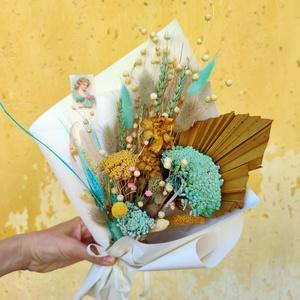 Szárazvirág csokor/Örökcsokor - Ginappi_SZVCS_01, Csokor & Virágdísz, Dekoráció, Otthon & Lakás, Virágkötés, Egy csokor, amely soha nem hervad el. Ha tetszik és szeretnél ilyet ajándékozni kérlek írd meg üzene..., Meska