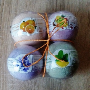 Pezsgő fürdőgolyó válogatás! , Fürdőgolyó, Szappan & Fürdés, Szépségápolás, Kozmetikum készítés, Mindenmás, 4 in 1 pezsgő fürdőgolyó válogatás!!! \nLevendulás, menta-citromfű, narancs és trópusi gyümölcs illat..., Meska