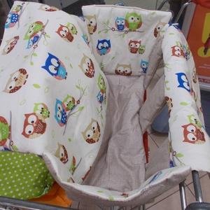 Baglyos kocsihuzat - Bevásárlókocsi huzat, Gyerek & játék, 100 % pamutvászonból készült, vatelinnel bélelt uniszex üléshuzat Utalás beérkezte után két munkanap..., Meska