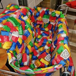 Legós kocsihuzat - Bevásárlókocsi huzat, Játék & Gyerek, 3 éves kor alattiaknak, Bevásárlókocsi huzat, Varrás, Meska