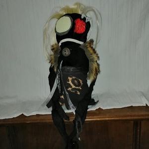 Egyedi goth baba - Zombi rongybaba, Otthon & Lakás, Dekoráció, Egyedi zombi babalány Hossza a lábak nélkül 30 cm Utalás beérkezte után két napon belül küldöm (után..., Meska