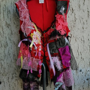 Egyedi gipsy tunika L/XL, Ruha & Divat, Női ruha, Tunika, Varrás, Készen vásárolt rugalmas, bársonyos anyagú felsőt tettem teljesen egyedivé gipsy stílusjegyekkel\nA k..., Meska