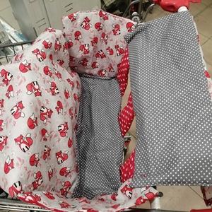 Rókás bevásárlókocsi huzat - Bevásárló kocsihuzat, Játék & Gyerek, 3 éves kor alattiaknak, Bevásárlókocsi huzat, Varrás, Meska