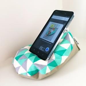 Mini babzsák - mobil tartó (cikk-cakk - gombok) (gita) - Meska.hu