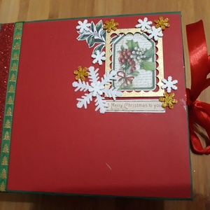 Karácsonyi scrapbook fénykép album, Karácsony & Mikulás, Karácsonyi dekoráció, Papírművészet, Karácsonyi ajándéknak kiváló, fénykép album, scrapbook technikával készült, karácsonyi témájú papírb..., Meska