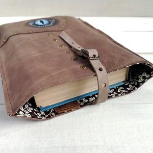Könyv védő tok / Könyvtok / Sárkányszem barna selyemfényű valódi bőr könyvtok / Fantasy rajongó ajándék / Könyv védő tok (globerina) - Meska.hu