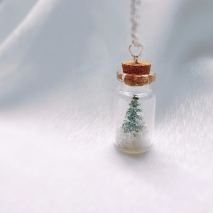 Havas fenyőfa palackban (Glowbabe) - Meska.hu