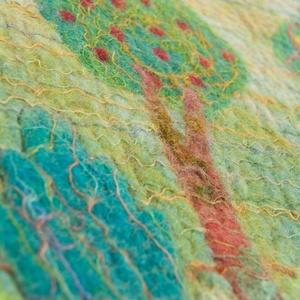 Látóhatár II. nemezkép, Méret: 64 x 130 cm  - művészet - textilkép - nemezelt - Meska.hu