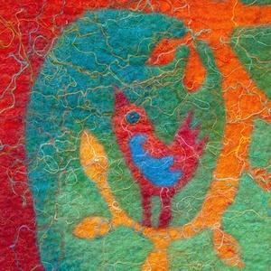 Életfa, nemezelt falikép (Gobi) - Meska.hu
