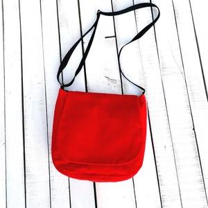 Kord válltáska, Táska & Tok, Kézitáska & válltáska, Válltáska, Varrás, Kordbársony és erős vászon textilekből készült táska.\n29x28cm méretű. Mélysége 9cm.\nA táska belsejéb..., Meska