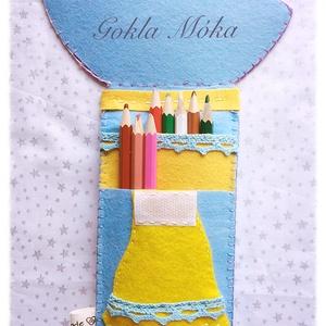 Vidám filc esernyős tolltartó (GoklaMoka) - Meska.hu