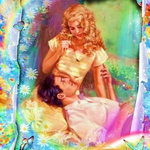 Szerelem , Otthon & lakás, Dekoráció, Lakberendezés, Kép, Falikép, Gyerek & játék, Gyerekszoba, Festett tárgyak, Fotó, grafika, rajz, illusztráció, A Goldi miniatűr egy varázslatos illusztráció, melyet arany és ezüst színű, vékony fémre nyomtatunk ..., Meska