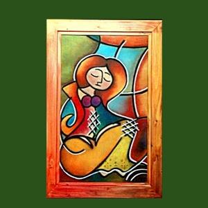 Melankólia, Otthon & lakás, Képzőművészet, Napi festmény, kép, Festészet, Fotó, grafika, rajz, illusztráció, Melankólia\nLakkozott pasztell kartonon - hozzá készített fenyő keretben. A keretet művész akrillal a..., Meska