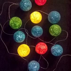 """Fényfüzér \""""Meselandia\"""", Lakberendezés, Otthon & lakás, Lámpa, Gyerek & játék, Gyerekszoba, Mindenmás, Tökéletesen passzol kis lurkók szobáiba éjjeli fénynek, vagy vidám dekorációnak :)\n\nEgyedi, kézzel k..., Meska"""