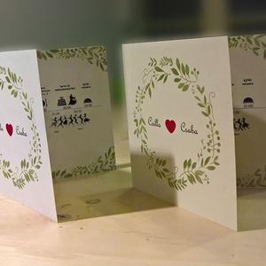Esküvői meghívó levél mintával, Esküvő, Meghívó, ültetőkártya, köszönőajándék, Papírművészet, Fotó, grafika, rajz, illusztráció, Letisztult, természetközeli, személyes esküvői meghívó.  A rendelés után átalakítom a ti igényeitek..., Meska