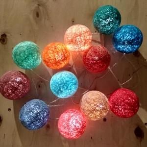 Barcelona fényfüzér, Hangulatlámpa, Lámpa, Otthon & Lakás, Mindenmás, Egyedi, kézzel készített gömb fényfüzér!\n\nGarantáltan otthonossá teszi a szobád! 12 egyedi gömb szűr..., Meska