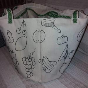 Bevásárlótáska , Táska & Tok, Bevásárlás & Shopper táska, Shopper, textiltáska, szatyor, Varrás, Vastag vászonból sokrekeszes bevásárló táskát varrtam.Más méretben is kérhető. , Meska