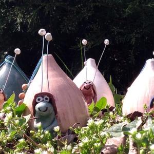Csigusz, Dekoráció, Otthon, lakberendezés, Mindenmás, Festészet, Kerámia, Ezeket a csigákat kerti dísznek terveztem,de természetesen  erkély ládákban is pompásan mutatnak.Vi..., Meska