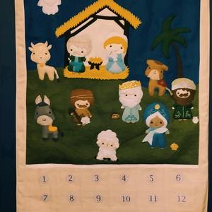 Adventi naptár, Karácsony, Adventi díszek, Adventi naptár, Varrás, Meska