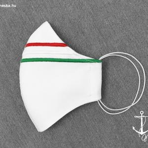 Magyar nemzeti hímzéses, fehér maszk. 3 rétegű, PP szűrős szájmaszk (GR80) - Meska.hu