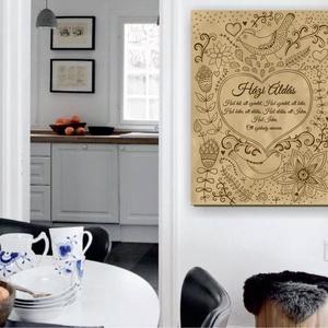 Házi áldás vászonkép, Házi áldás, Spiritualitás & Vallás, Otthon & Lakás, Fotó, grafika, rajz, illusztráció, \nA házi áldás valamikor nyílt üzenet volt: ebben a házban mindenki békében és harmóniában él egymáss..., Meska