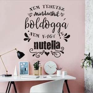 Nutella falmatrica, ajándékba vagy lepd meg saját magad, Falmatrica & Tapéta, Dekoráció, Otthon & Lakás, Fotó, grafika, rajz, illusztráció, Jókedvű matricánkat ajándékba adhatod, magadat is meglepheted vele. Használhatod konyhába, étkezőbe ..., Meska