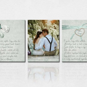 3 darabos vászonkép szett, remek ajándék lehet esküvőre, nászajándéknak vagy évfordulóra szerelmeseknek., Otthon & Lakás, Dekoráció, Kép & Falikép, Fotó, grafika, rajz, illusztráció, 3 darabos vászonkép szett, remek ajándék lehet esküvőre, nászajándéknak vagy évfordulóra szerelmesek..., Meska