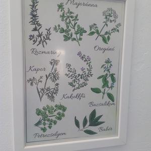 Egyedi kép fűszernövényekkel (GraFont) - Meska.hu