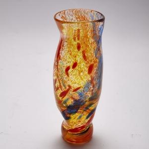 Színes pohár, Otthon & lakás, Dekoráció, Ünnepi dekoráció, Képzőművészet, Konyhafelszerelés, Üvegművészet, Üveg fújással készült, vastag falú, színes üveg pohár. \nMéret: 16 cm, Meska