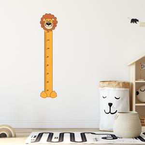 Falmatrica - Oroszlános magasságmérő matrica, Otthon & Lakás, Dekoráció, Falmatrica & Tapéta, Fotó, grafika, rajz, illusztráció, Örökítsd meg ahogy gyermeked megállíthatatlanul cseperedik. Azon túl, hogy egy kedves dekoráció, pra..., Meska