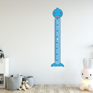 Falmatrica - Delfines magasságmérő matrica, Otthon & Lakás, Dekoráció, Falmatrica & Tapéta, Fotó, grafika, rajz, illusztráció, Örökítsd meg ahogy gyermeked megállíthatatlanul cseperedik. Azon túl, hogy egy kedves dekoráció, pra..., Meska