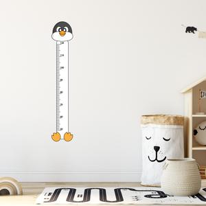 Falmatrica - Pingvines magasságmérő matrica, Otthon & Lakás, Dekoráció, Falmatrica & Tapéta, Fotó, grafika, rajz, illusztráció, Örökítsd meg ahogy gyermeked megállíthatatlanul cseperedik. Azon túl, hogy egy kedves dekoráció, pra..., Meska