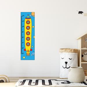 Falmatrica - Űrhajós magasságmérő matrica, Otthon & Lakás, Dekoráció, Falmatrica & Tapéta, Fotó, grafika, rajz, illusztráció, Örökítsd meg ahogy gyermeked megállíthatatlanul cseperedik. Azon túl, hogy egy kedves dekoráció, pra..., Meska