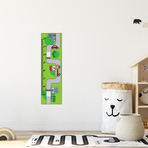 Falmatrica - Autós magasságmérő matrica, Otthon & Lakás, Dekoráció, Falmatrica & Tapéta, Fotó, grafika, rajz, illusztráció, Örökítsd meg ahogy gyermeked megállíthatatlanul cseperedik. Azon túl, hogy egy kedves dekoráció, pra..., Meska
